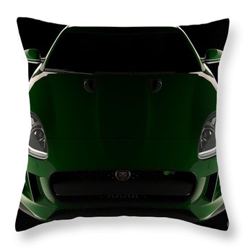 Jaguar F-type - Front View Throw Pillow