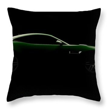 Jaguar F-type - Side View Throw Pillow