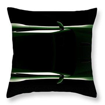 Jaguar F-type - Top View Throw Pillow