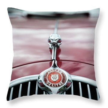 Jaguar Grille Throw Pillow by Helen Northcott