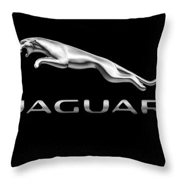Jaguar Logo Throw Pillow