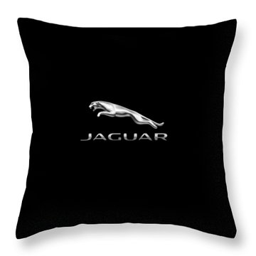 Jaguar Logo Throw Pillow