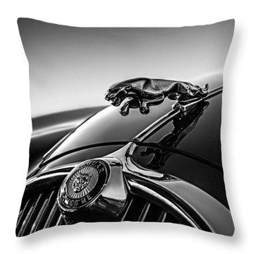Jaguar Mascot Throw Pillow
