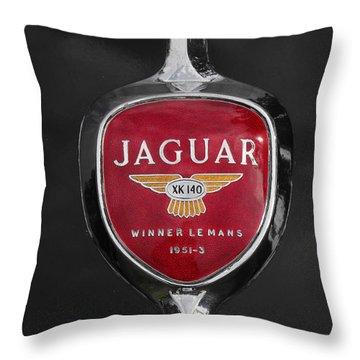 Jaguar Medallion Throw Pillow