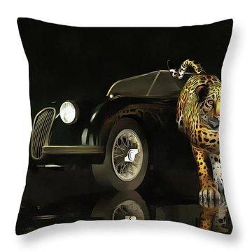 Jaguar Mk 3 Throw Pillow