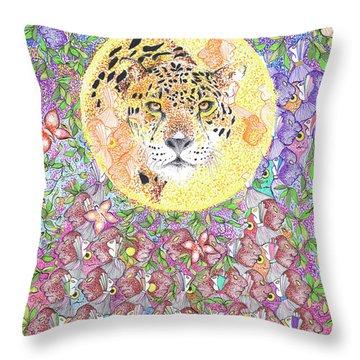 Jaguar Night Throw Pillow