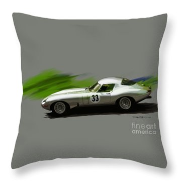 Jaguar Racing Throw Pillow