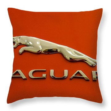 Throw Pillow featuring the photograph Jaguar by Robert Hebert