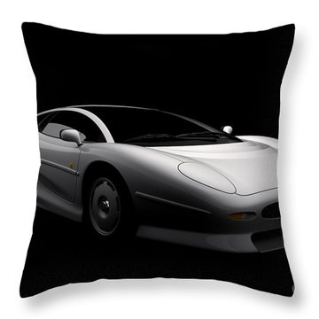 Jaguar Xj220 Throw Pillow