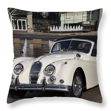 Jaguar Xk 140 Throw Pillow by Dennis Hedberg