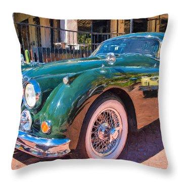 Throw Pillow featuring the photograph Jaguar Xk Classic by Dan McManus