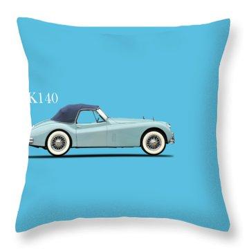 Jaguar Xk140 Throw Pillow
