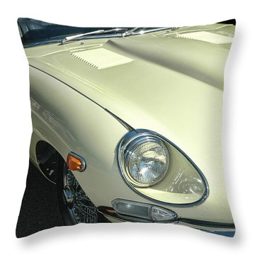 Jaguar Xke Roadster Throw Pillow