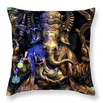 Jai Ganesh Throw Pillow