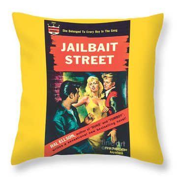 Jailbait Street Throw Pillow
