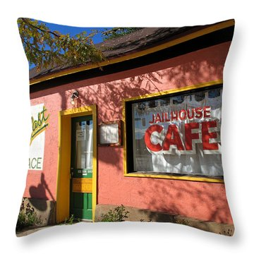 Jailhouse Cafe Moab Utah Throw Pillow