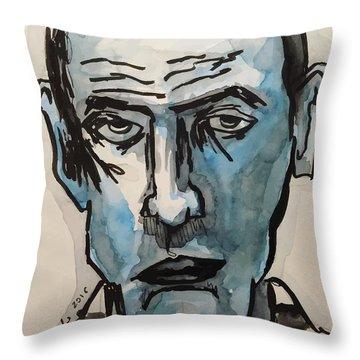 Jail's Blues Throw Pillow