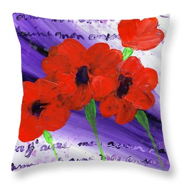 J'aime Mon Amour Throw Pillow