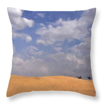 Jaisalmer Desert Festival-1 Throw Pillow