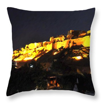 Jaisalmer Desert Festival-3 Throw Pillow