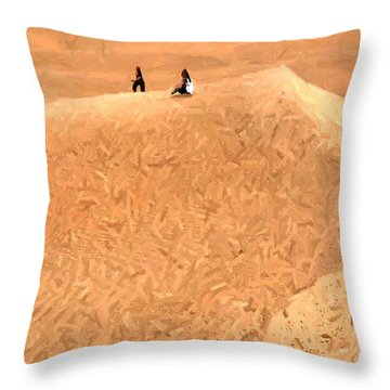 Jaisalmer Desert Festival-4 Throw Pillow