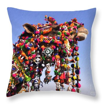 Jaisalmer Desert Festival-5 Throw Pillow