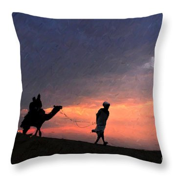 Jaisalmer Desert Festival-6 Throw Pillow