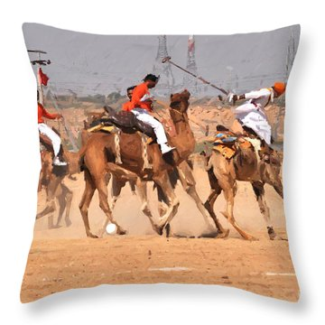 Jaisalmer Desert Festival-7 Throw Pillow