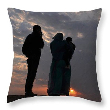 Jaisalmer Desert Festival-8 Throw Pillow
