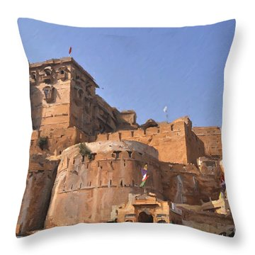 Jaisalmer Desert Festival-9 Throw Pillow