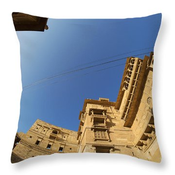 Throw Pillow featuring the photograph Jaisalmer Fort by Yew Kwang