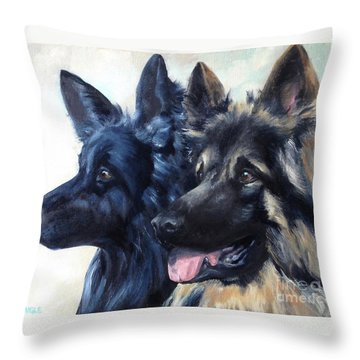 Jake And Shiloh Throw Pillow