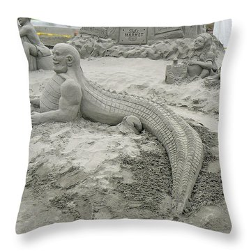 Jake The Alligator Man  Throw Pillow by Pamela Patch