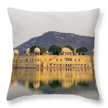 Throw Pillow featuring the photograph Jal Mahal  by Yew Kwang
