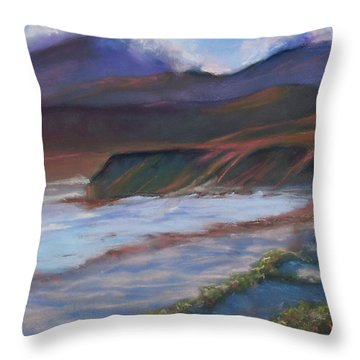 Jalama Beach At Sunset Throw Pillow by Laurie Paci
