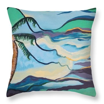 Jamaican Sea Breeze Throw Pillow