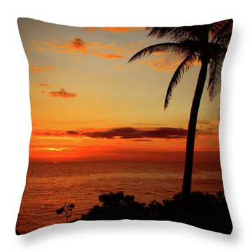 Jamaican Sunset Throw Pillow by Kamil Swiatek