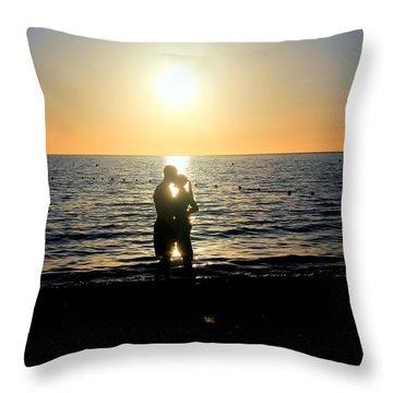 Jamaican Sunset Kiss By Steve Ellenburg Throw Pillow by Steve Ellenburg