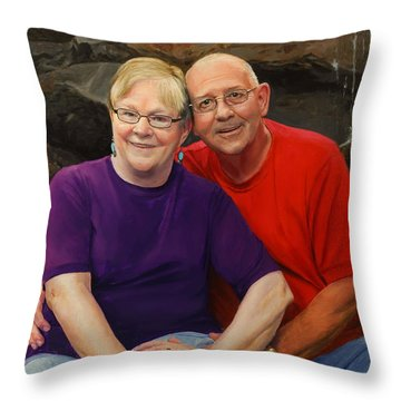 James And Judy Ballard Throw Pillow