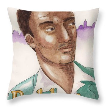 James Baldwin Throw Pillow by Whitney Morton