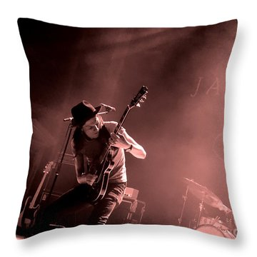 James Bay In Denver Throw Pillow