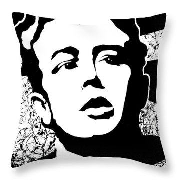 James Dean Throw Pillow by Curtiss Shaffer