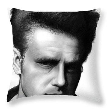 James Dean Throw Pillows