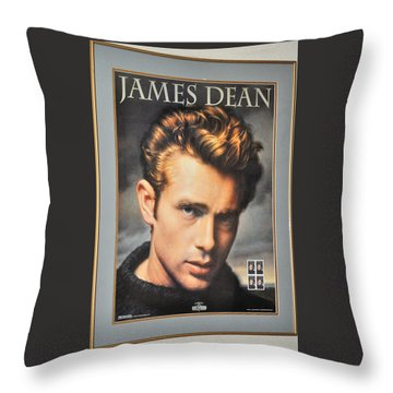 James Dean Hollywood Legend Throw Pillow