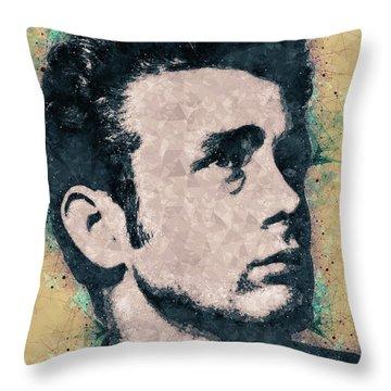 James Dean Portrait Throw Pillow