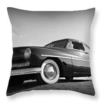 James Dean's Merc Throw Pillow