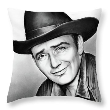 James Drury Throw Pillow