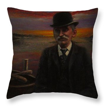 James E. Bayles Sunset Years Throw Pillow
