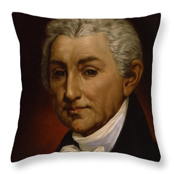 James Monroe - President Of The United States Of America Throw Pillow