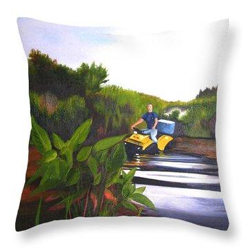 James On Fourwheeler Throw Pillow